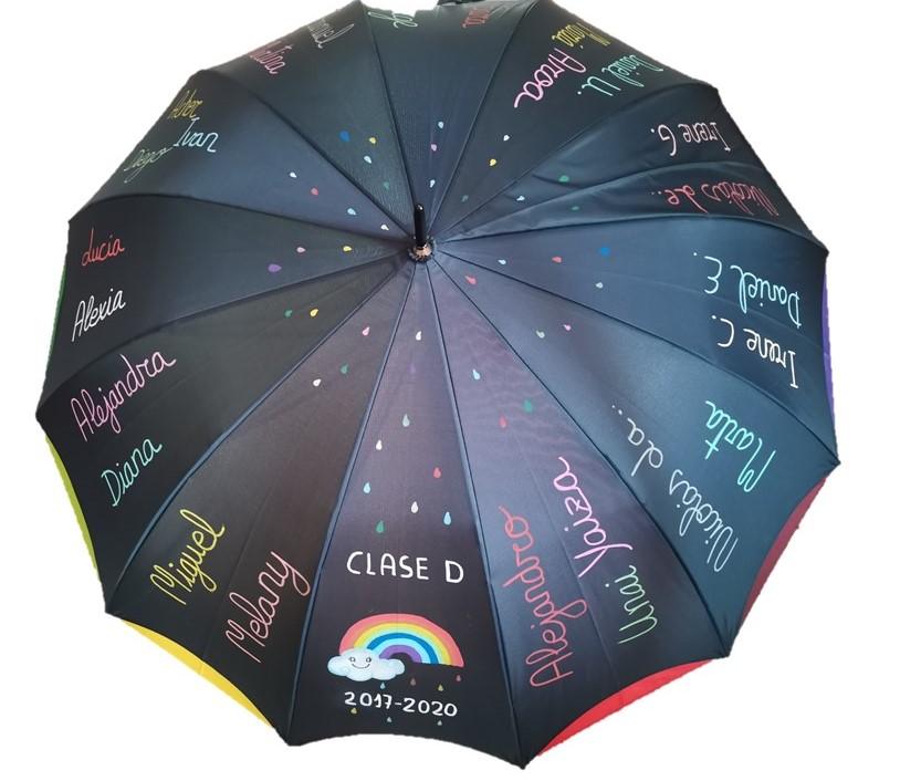 Paraguas con nombre de niños