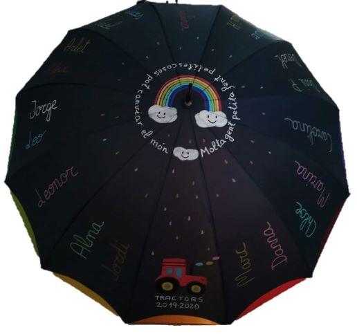 paraguas personalizado profesora