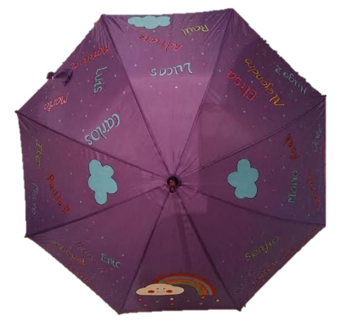 paraguas para profesora guardería