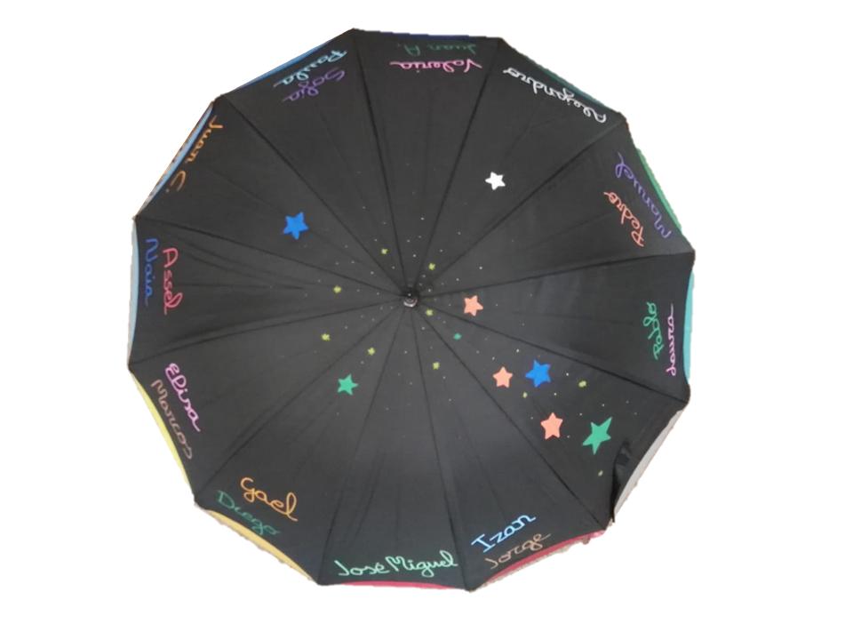 paraguas estrellas profesores