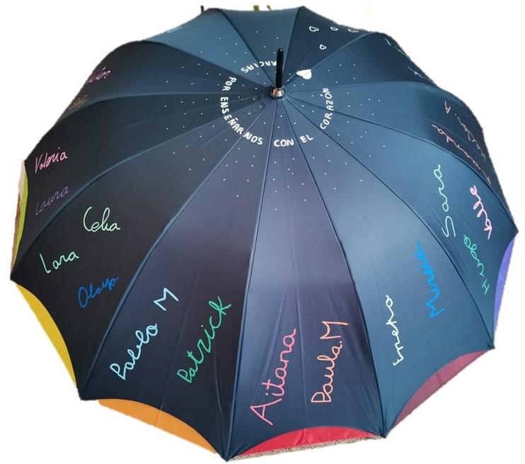 paraguas personalizado con nombres