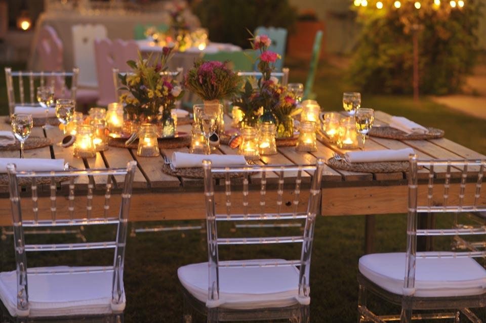 decoracion con velas bodas