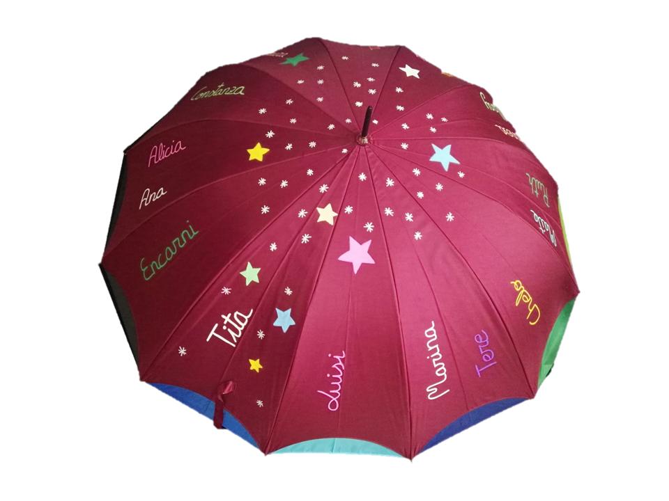 paraguas personalizado jubilacion