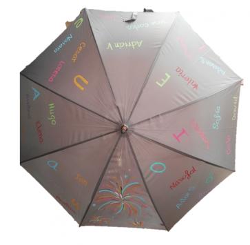 Paraguas personalizados, únicos y exclusivos, con los nombres de los alumnos y dibujos personalizados, para las profeso