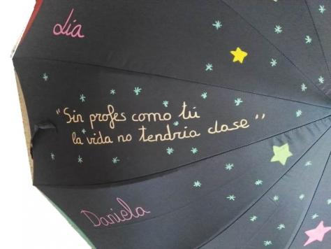 paraguas para profesores con frases