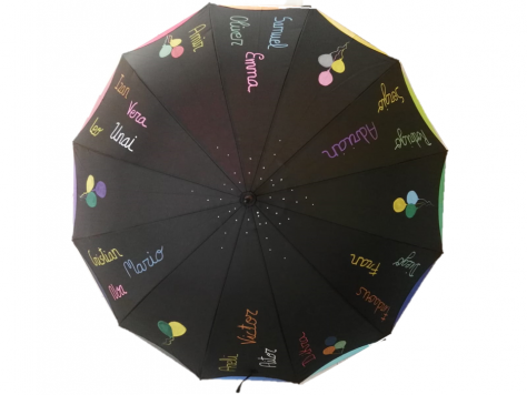 paraguas personalizado profesores