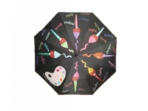 paraguas exclusivo pinceles
