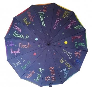 paraguas profesor personalizado